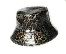 KGM Accessories Cool New Leopard Holographic Reversible Bucket hat sun festival party hats