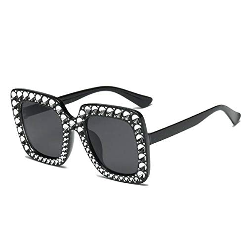 Fashionista Over size Diamante Frame Designer Sunglasses - Women ladies celebrity style fashion eye wear
