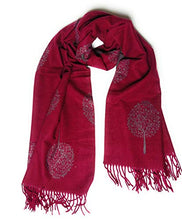 Luxurious super softer than Cashmere  reversible Mulberry Tree of life scarf shawl