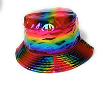 Cool New Holographic Reversible Bucket hat sun festival party hats