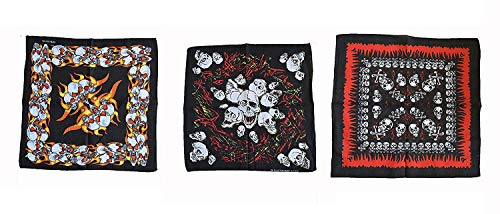 Wigwam 3 Piece Heavy Metal skull design bandanna bandana set