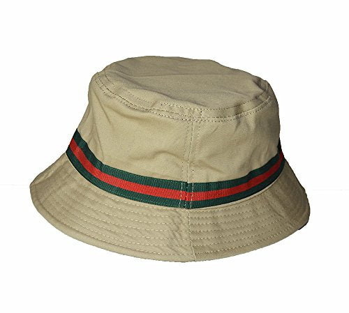 Wigwam Cool stripe Cotton Bucket hat - summer sun festival hats