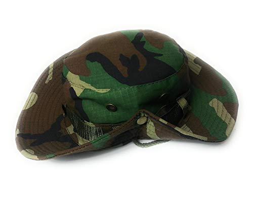 Fisherman Military camouflage cotton Boonie Bush Combat Brim Army Bucket sun hat Camo - Outdoor festival hats