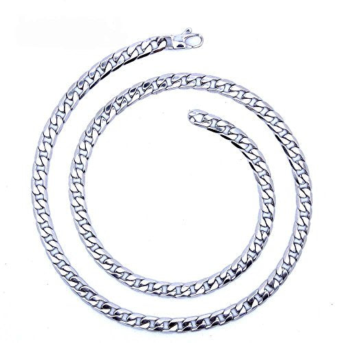 KGM Accessories Men's Silver Stainless steel Necklace 22 inch 55 cm