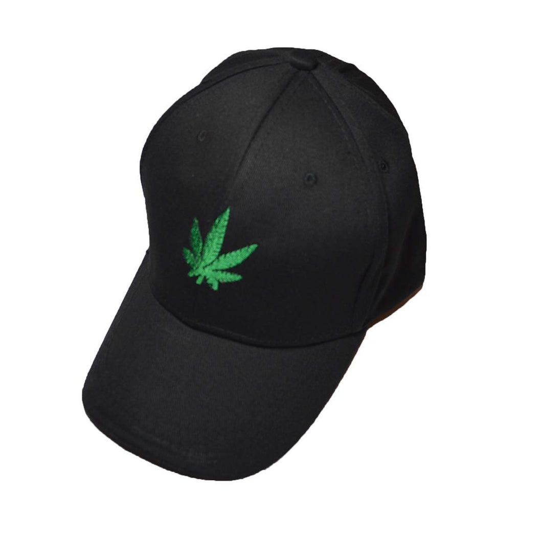 Hemp Leaf Logo Baseball cap black