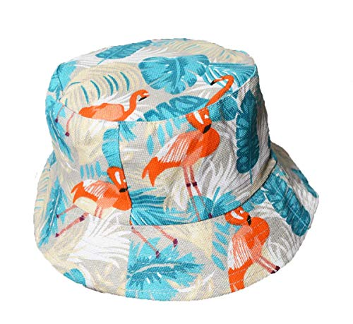 Wigwam Reversible Designer FLAMINGO print pattern Bucket hat - holiday festival sun hats