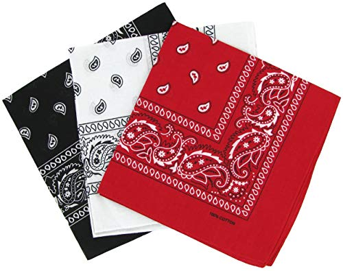 3 Piece Pack bandanna set Face covering Mask headband protection - Holiday Rock music dance festival Fashion