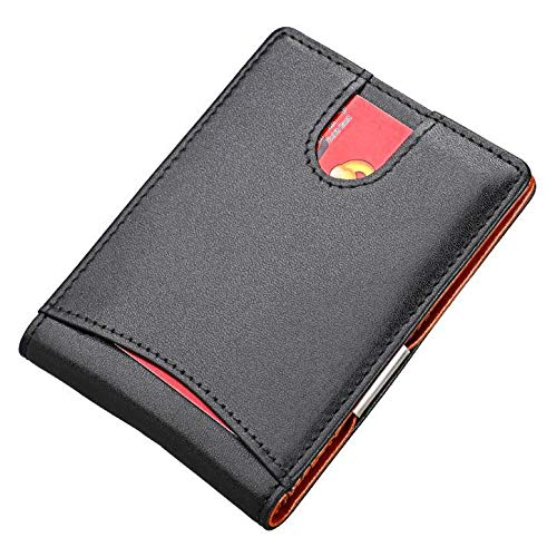 real Leather Dual color RFID Blocking Multi Card Compact  Wallet - Men woman card money wallets