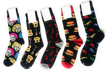 5 Pair Multi-Pack Designer Knitted Cotton Socks - Mens Boys Novelty Socks