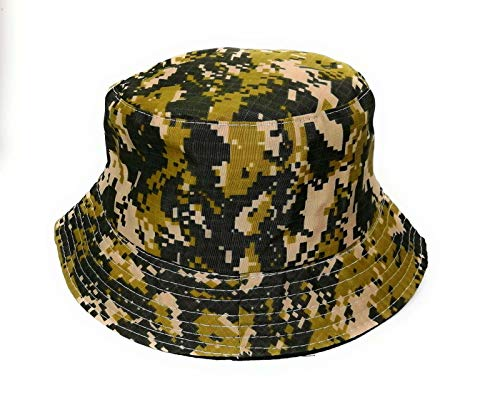 KGM Accessories stylish Flecktarn camouflage reversible cotton bucket sun hat Camo