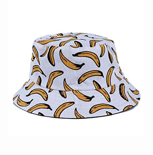 Cool Andy Warhol Style Bananas print bucket style sun hat- Festival Holiday Hats