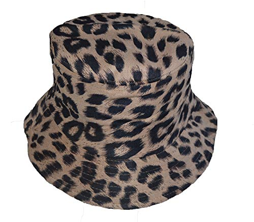 Reversible Leopard Animal print pattern Bucket hat - holiday festival sun hats