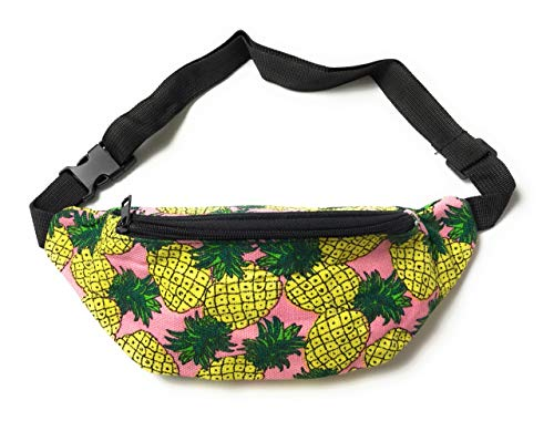 Pineapple print fashion Bum Bag Fanny Pack waist bag - Holiday festival travel