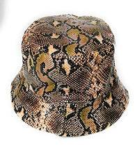 Wigwam Reversible Designer SNAKE print pattern Bucket hat - holiday festival sun hats