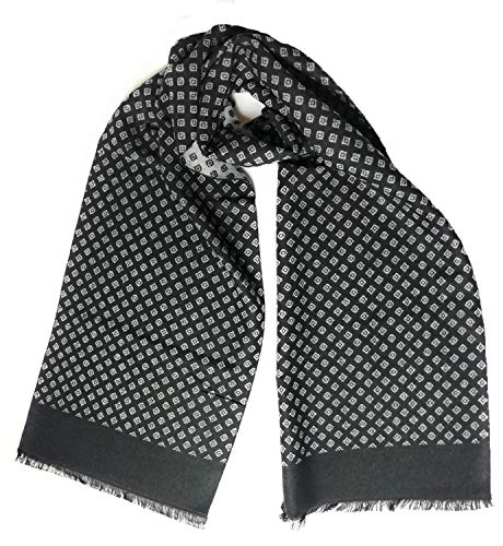 Mens Stylish Diamond Design Super Soft Plaid Scarf - Designer Scarves for Men