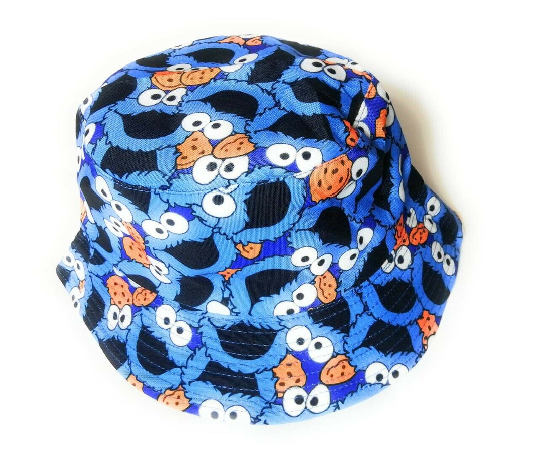 New Cookie monster style blue face Bucket hat festival outdoor holiday hats