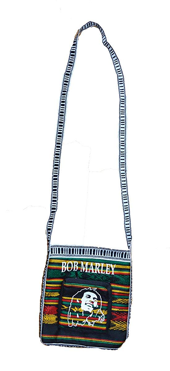 Nice small hand made Rasta Bob Marley print cross body tote