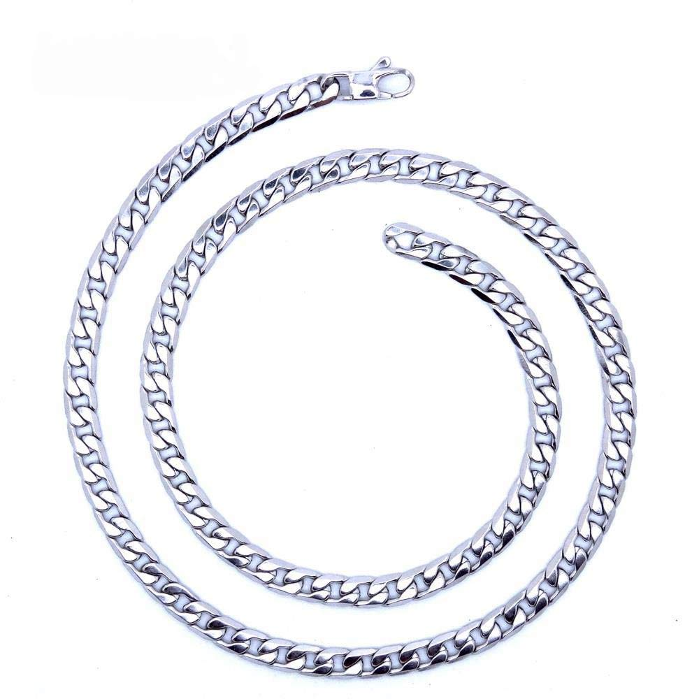 Men's women`s  Silver Stainless steel Necklace 22 inch 55 cm