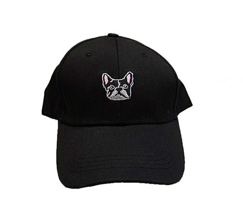 Cool New French Bull dog logo Baseball cap Black