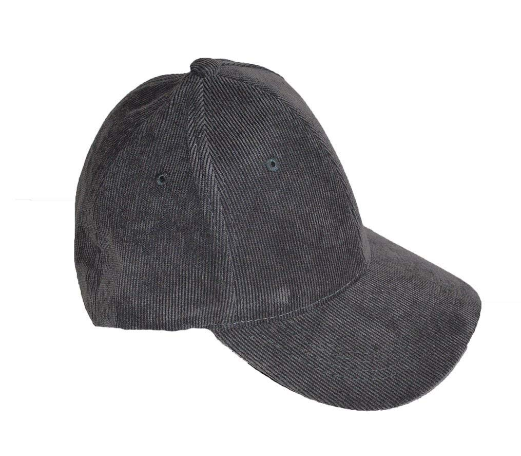 Corduroy snap back baseball cap Grey