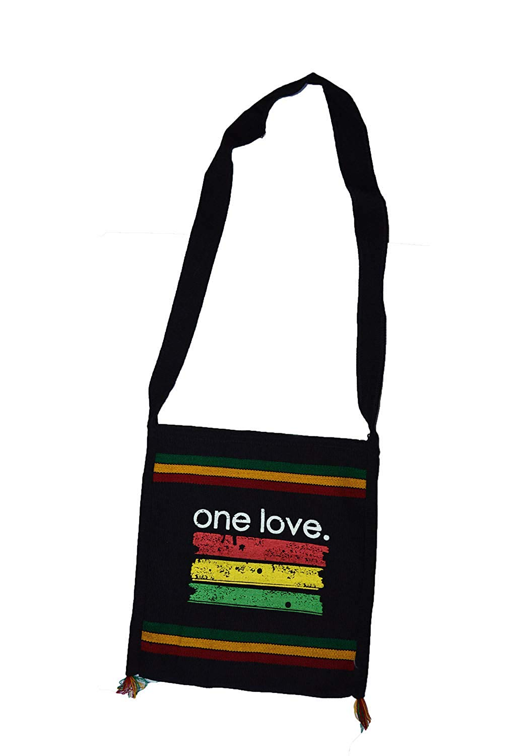 Cool hand made Rasta one love stripe print shoulder Bag
