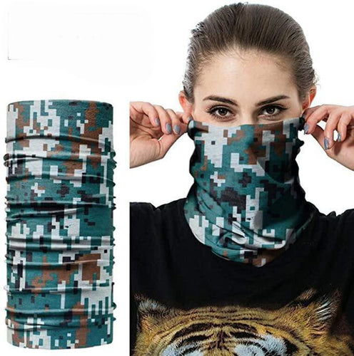 Face Neck Bandanna Motorcycle Style face cover dust Protection  Camo UK STOCK FAST SHIP