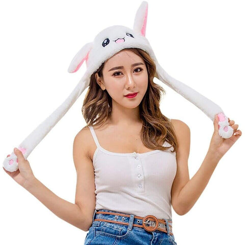 Fun Girls Kids adults new  POP up EAR Bunny Animal hat - k POP -  Gifts Christmas Birthday