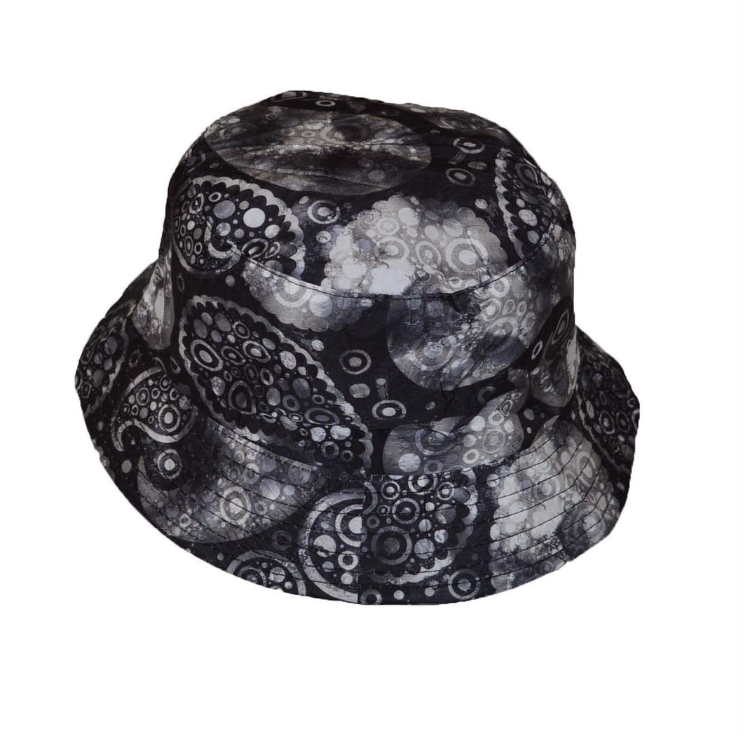 Wigwam Nice reversible Paisley pattern Cotton Bucket hat Grey