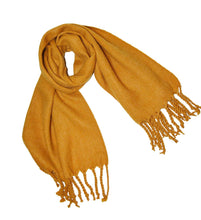 KGM Accessories Gorgeous Super Soft thick brushed blanket scarf mustard Ochre Yellow - Ladies girls womens winter scarves Gifts