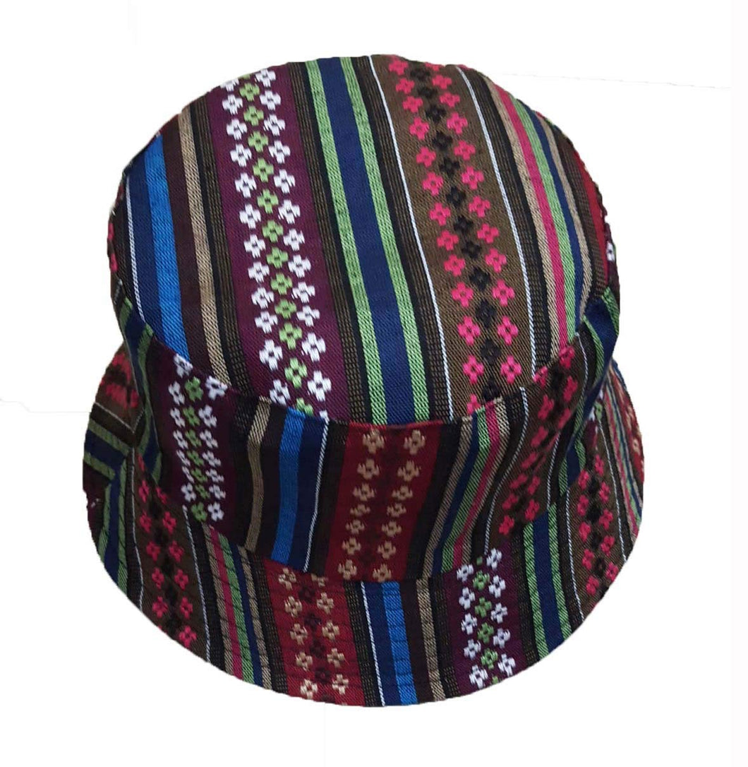 Wigwam  reversible Textured Mexican pattern Cotton Bucket hat