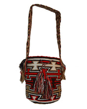 South American Wayuu Key Weave Hand Crochet Shoulder Bag Natural