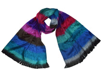 Wigwam accessories Luxury hand made Alpaca blend shawl multi Blue