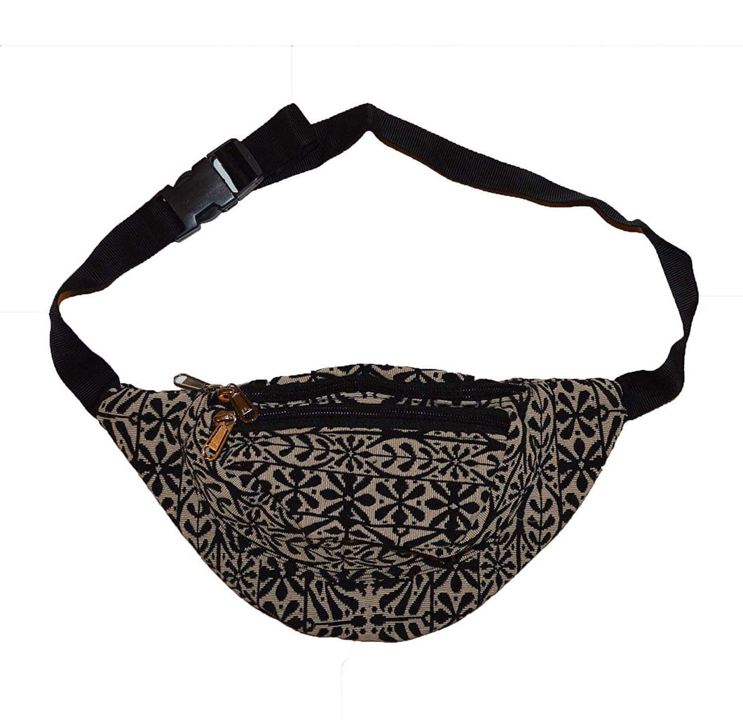 Nice Jacquard cotton floral pattern bum bag waist bag