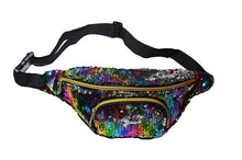 Gorgeous Large multi color sequin bum bag waist bag fanny pack