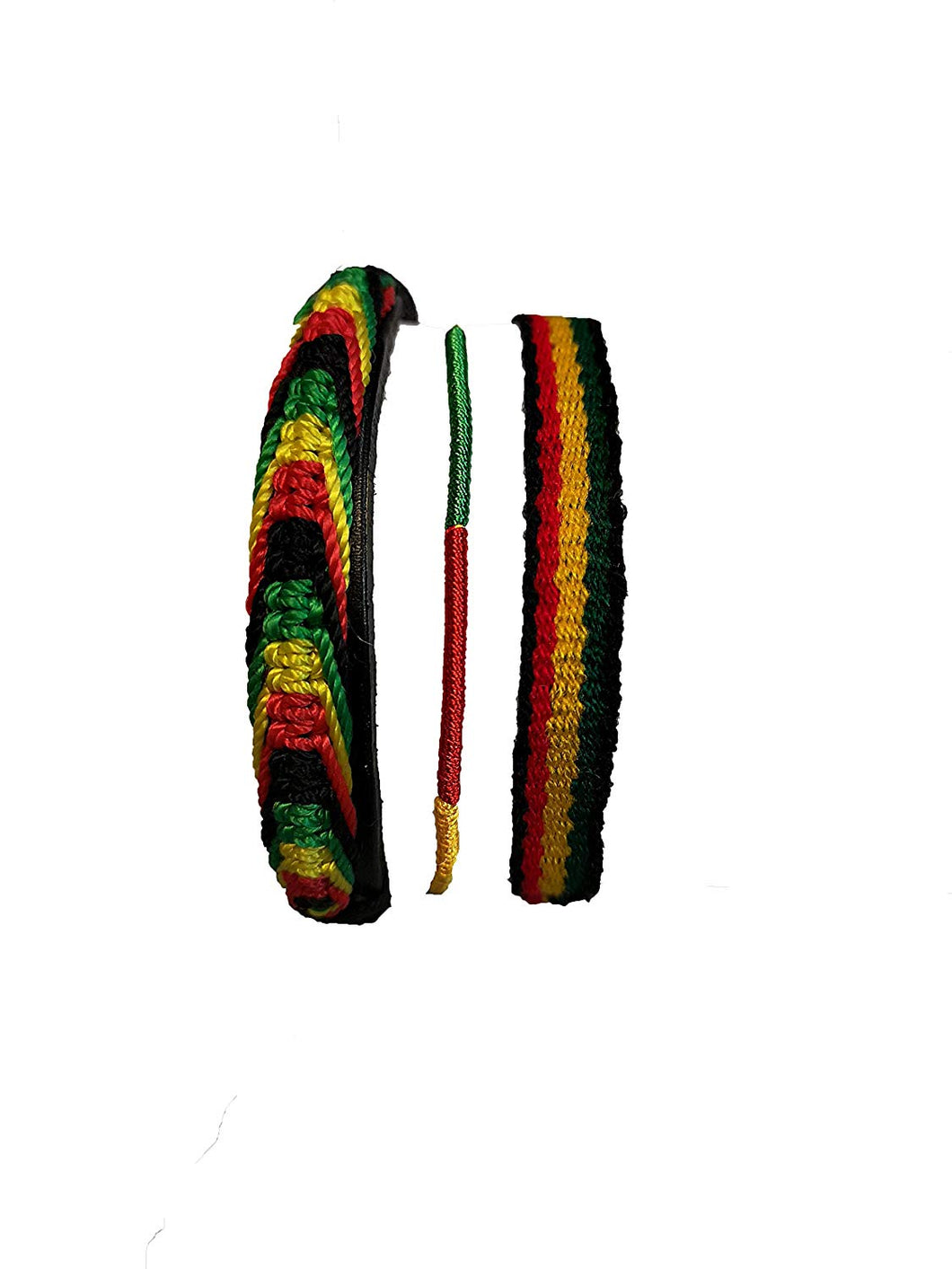 New Rasta bob Marley style friendship armband 3 piece set