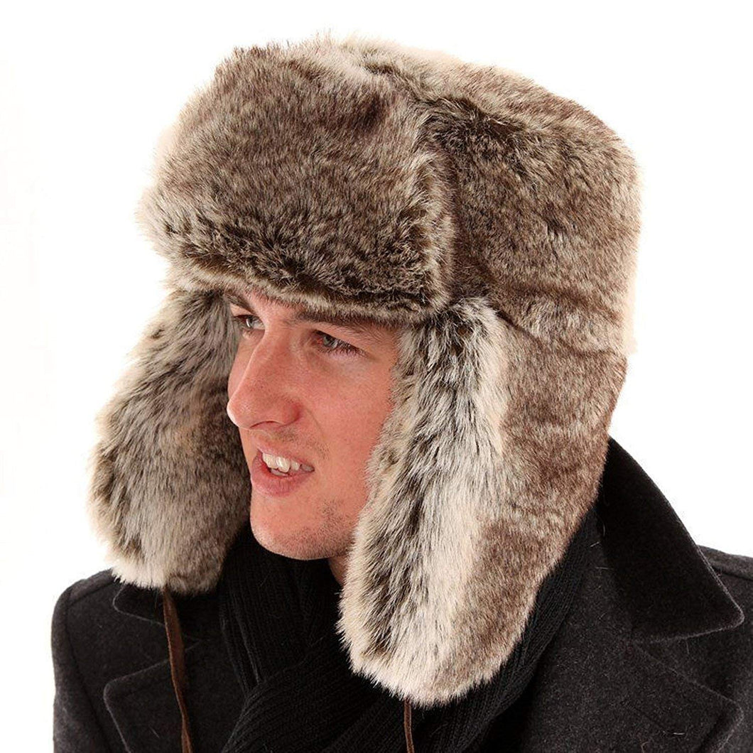 Top Quality Super thick High quality Fuax fur lined trapper pilot hat
