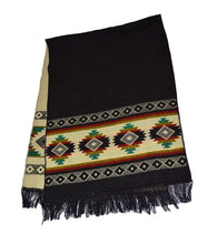 Wigwam accessories Luxury hand made Native American Pattern wool blend shawl