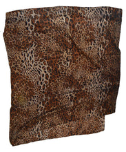 Luxury large super soft Brown Leopard print Viscose scarf shawl - Over sized ladies womens leopard scarf shawl - Animal print shawl women