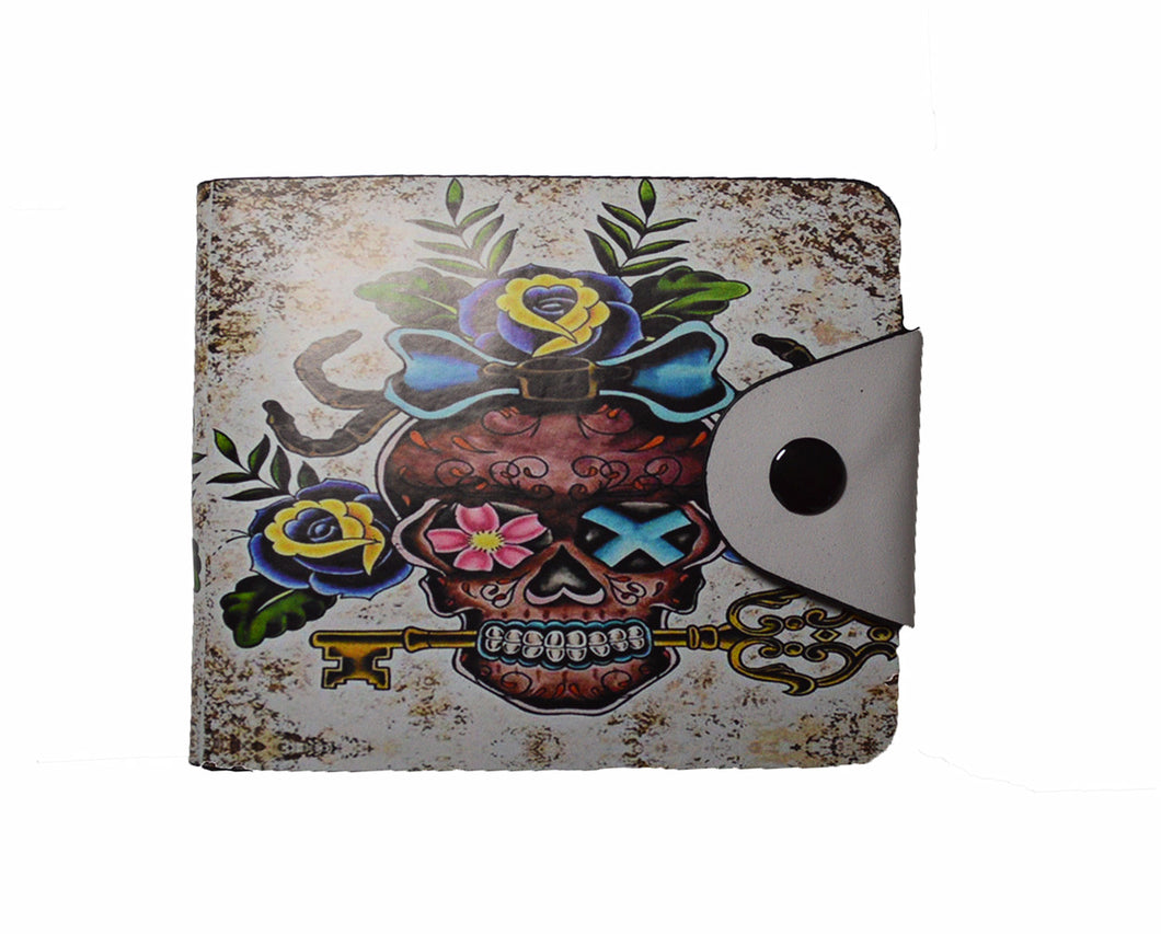 Metal Skull Rocker design wallet
