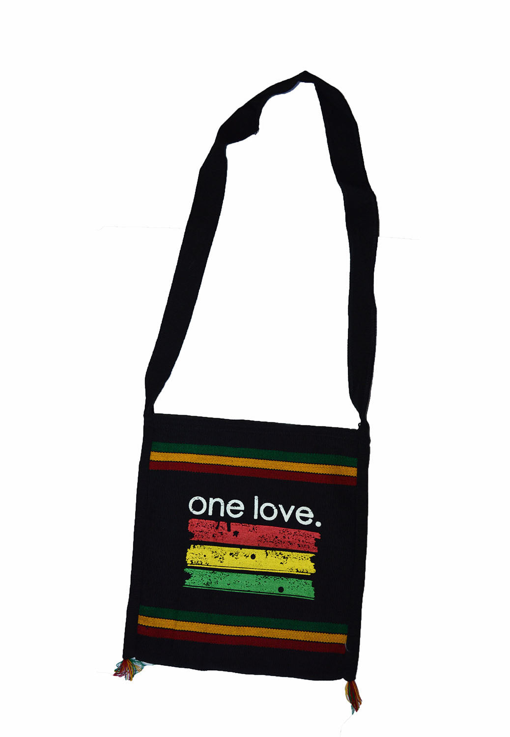 Nice  hand made Rasta One love color print shoulder bag