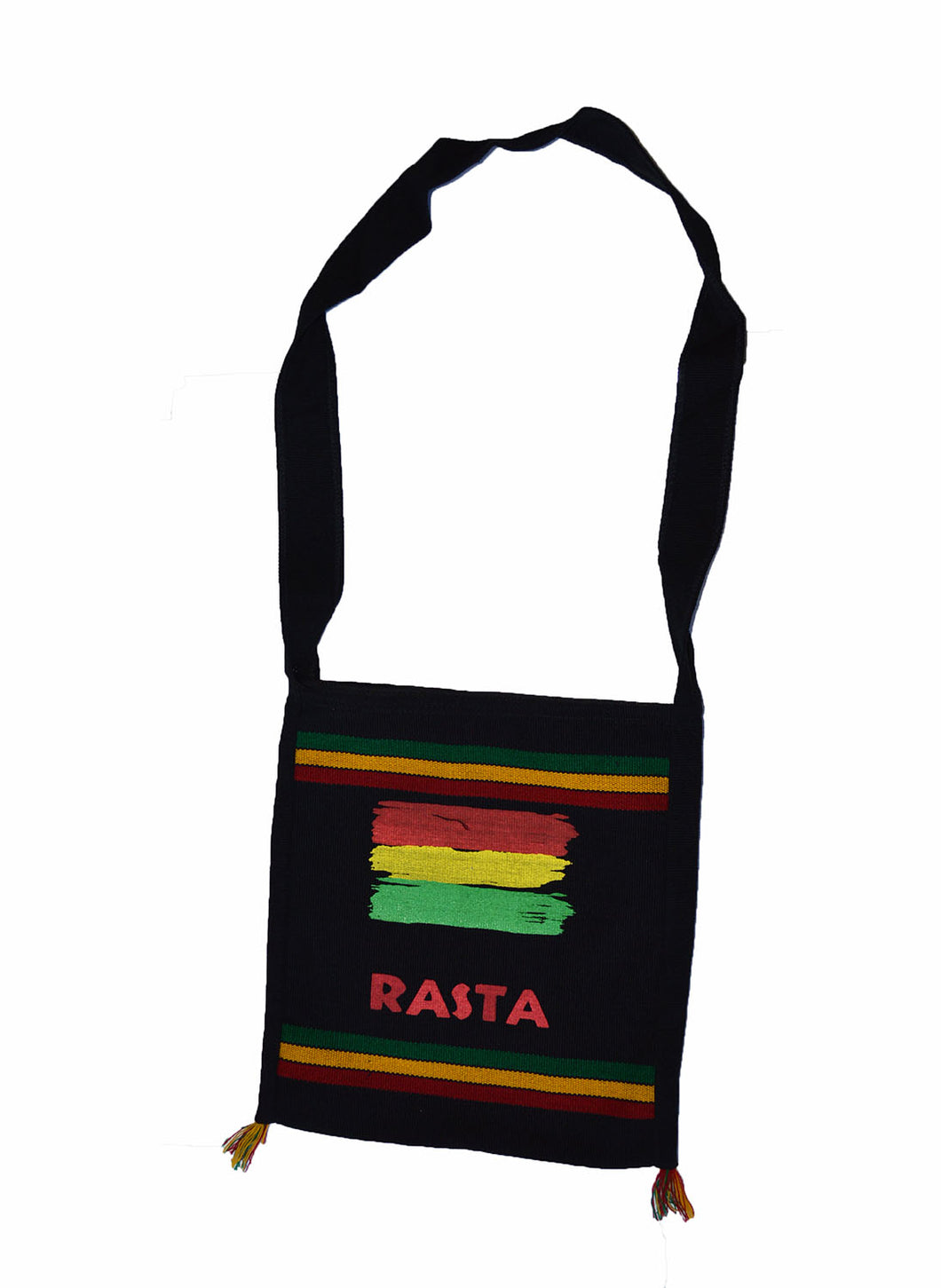Cool hand made Rasta color print shoulder bag