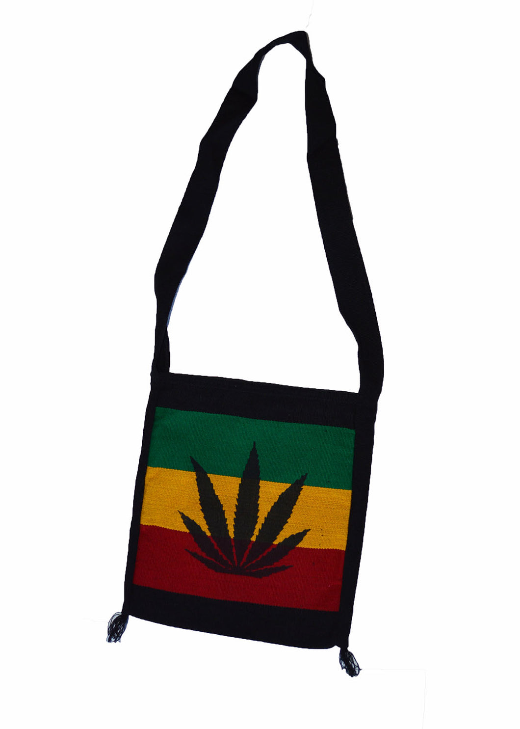 hand made Rasta Cannabis leaf color print shoulder bag