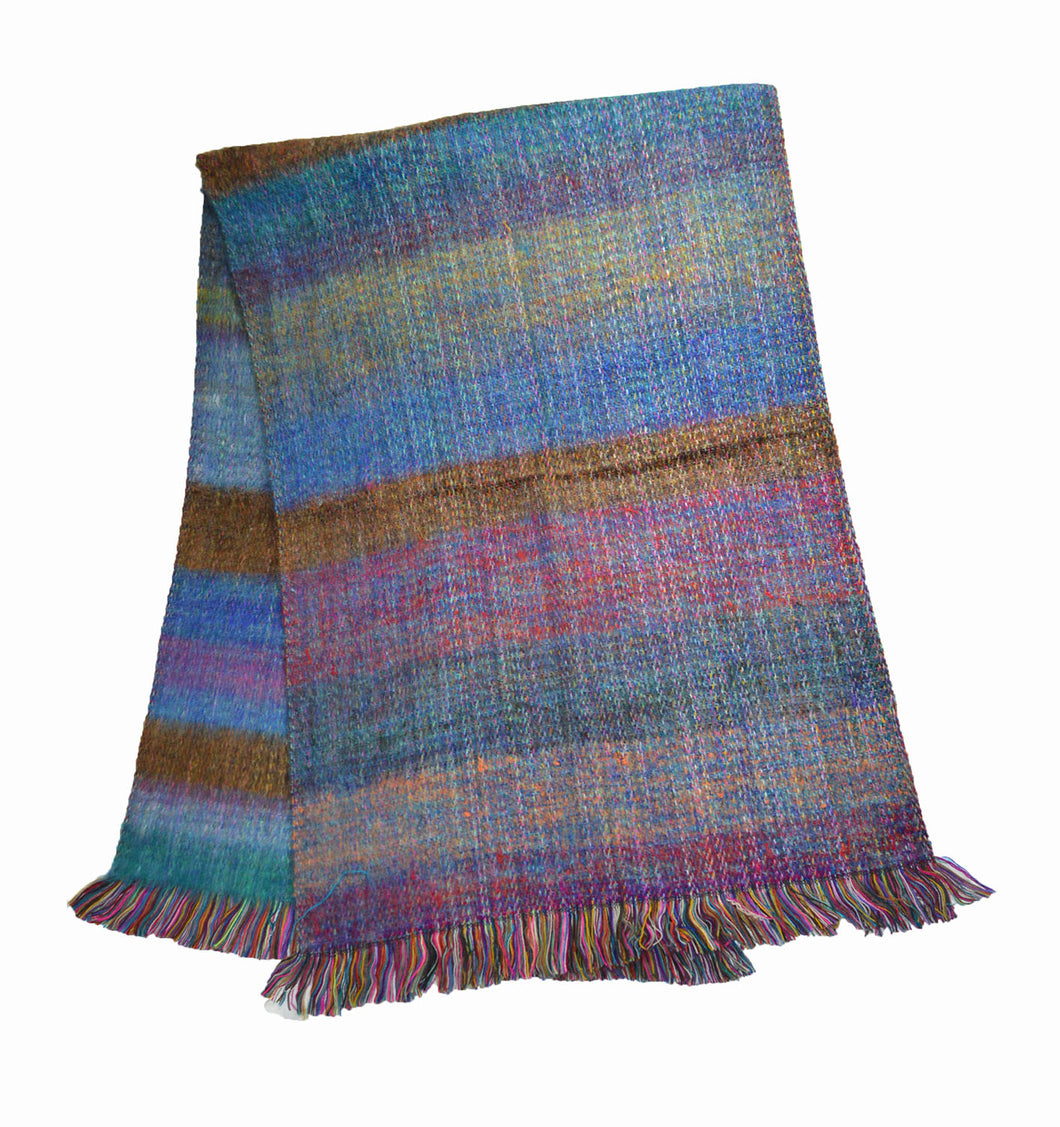 South American Double knit Alpaca blend mohair style shawl