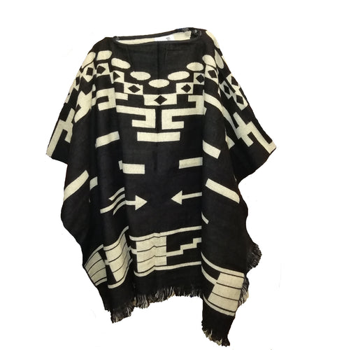 Hand made Mexican Style Blanket poncho