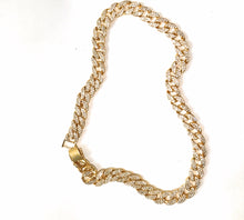 Gold Chunky diamante Quavo Cuban link chain