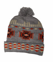 Hand crafted Native American Indian pattern bobble beanie hat