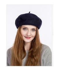 100% thick wool felt fashion beret