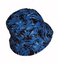 Colorful cannabis hemp leaf bucket sun hat