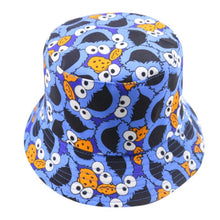 COOL Cartoon face print Festival holiday sun bucket hat