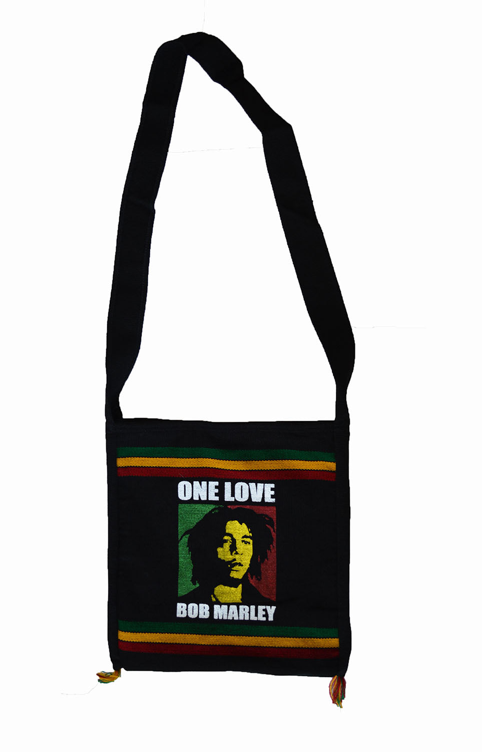 Bob Marley one love print shoulder bag